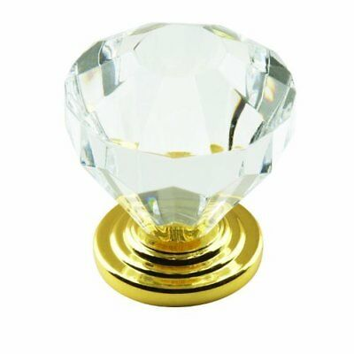 Amerock BP14303CBB Traditional Classics Knob with Acrylic Base, Crystal,... Amerock Traditional Classics Crystal