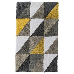 Model Yellow Gray Bath Rug  Target