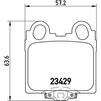 NK 224538 Bremsbeläge Beläge Bremsbelagsatz Belagsatz Bremsklötze hinten