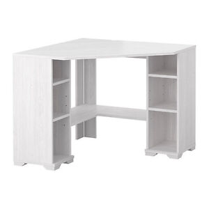 New Ikea Borgsjo Corner Desk Computer Office Table White