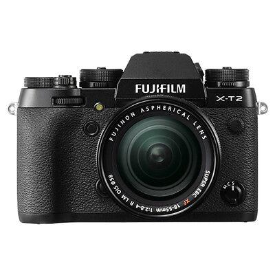 Fujifilm X-T2 Mirrorless Digital Camera Black with 18-55mm f/2.8-4 R LM OIS Lens