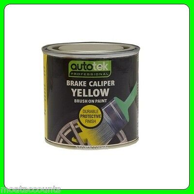 Autotek Yellow Brush On Brake Caliper Paint [CALY250] Also For Drums