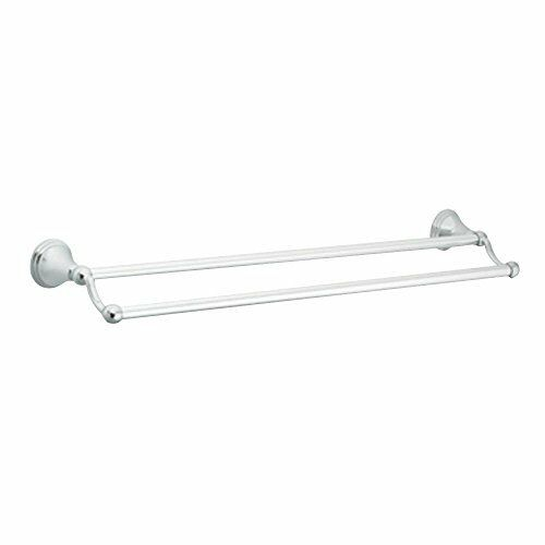 Moen DN8422CH Preston 24-Inch Bathroom Double Towel Bar, Chrome