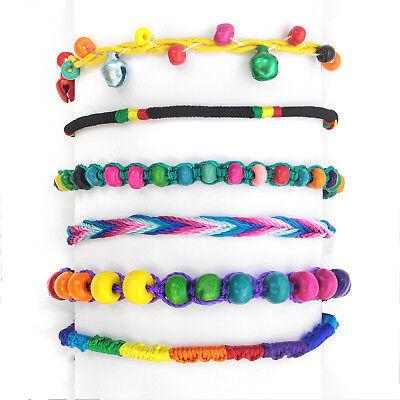 2 Woven Colourful Fabric Handmade Cotton Thread String Kids