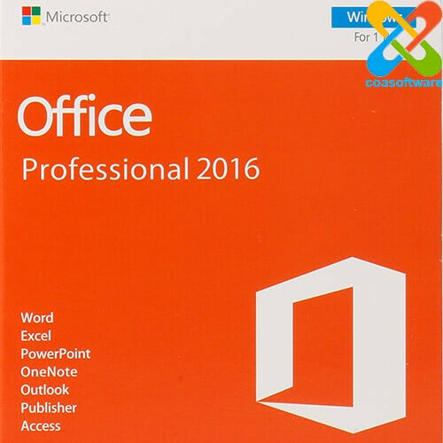 Microsoft Office Professional 2016 1 User for Windows 32&64 BIT