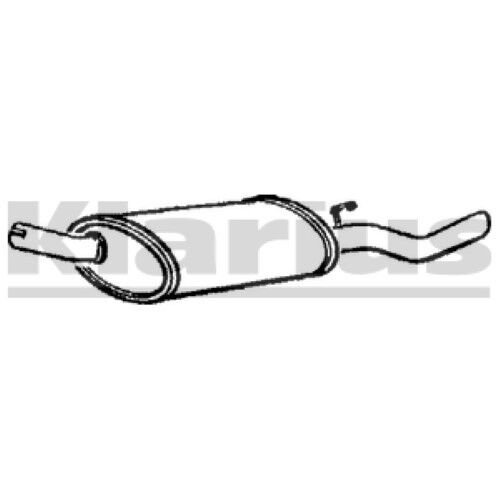 1x KLARIUS OE Quality Replacement Rear / End Silencer Exhaust For OPEL, VAUXHALL