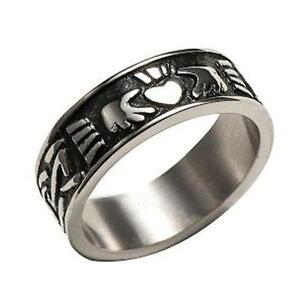 Mens Irish Claddagh Ring