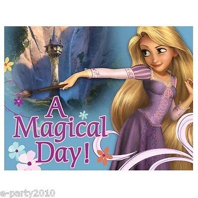 TANGLED INVITATIONS (8) ~ Disney Princess Birthday Party Supplies Rapunzel Cards - Tangled Invitations