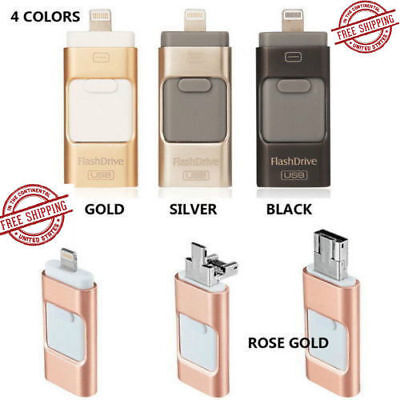 512GB i Flash Drive USB Memory Stick HD U Disk 3 in 1 for Android/IOS iPhone PC