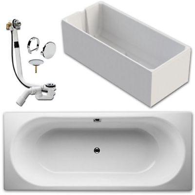 Bette Form Badewanne 3600 Stahl 160x70cm inkl Ab- u Überlaufgarnitur Träger m