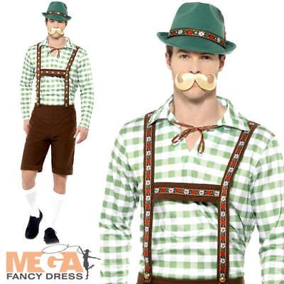 Alpine Bavarian Mens Fancy Dress Oktoberfest German Lederhosen Adults - Men's Alpine Kostüm