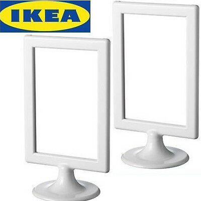 """Lots of 2 IKEA standing picture frames White 4""""x6"""" -- Frome"""