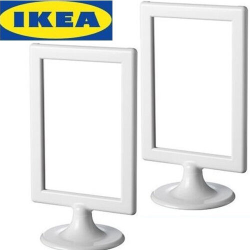 lots of 2 ikea standing picture frames white 4x6