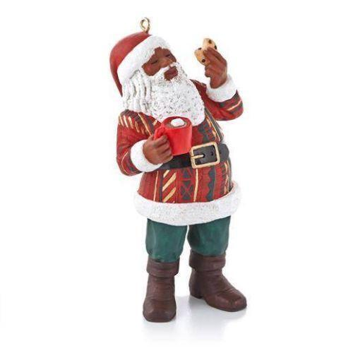 African american santa ornaments ebay for American christmas decorations