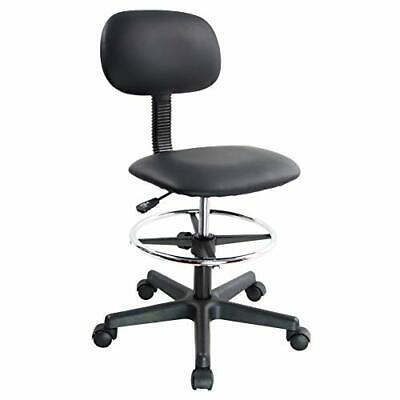 Kktoner Pu Leather Drafting Chair Without Arms Low Back Office Task Chair Wit...