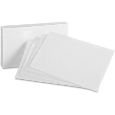 Oxford Unruled Index Cards 4 X 6 White 100pack