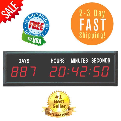 Digital Countdown Clock LED Days Hours Minutes Seconds Event