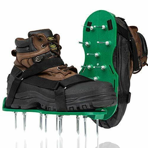 Punchau Lawn Aerator Shoes w/Metal Buckles and 3 Straps - Heavy Duty