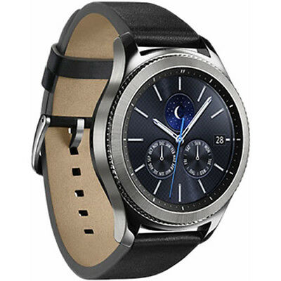 Used, Samsung Galaxy Gear S3 Classic 46mm Stainless Steel Leather Smart watch for sale  Shipping to Canada