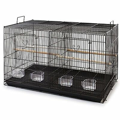 "Large 30"" Aviary Breeding Finch Parakeet Finch Flight Bird Cage Divider BLK- 137"