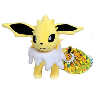 "Jolteon Pokemon Thunders Soft Plush Toy Electric Stuffed Animal From Eevee 7"""