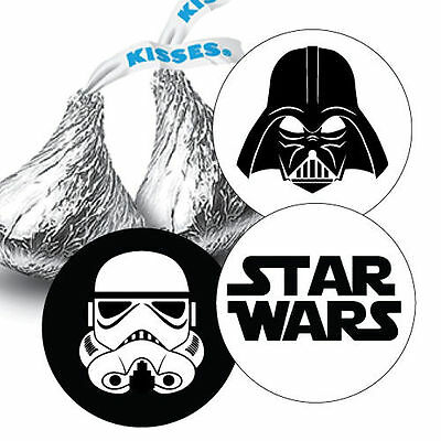 Star Wars Birthday Party, Darth Vader, Storm trooper, Hershey Kiss Stickers