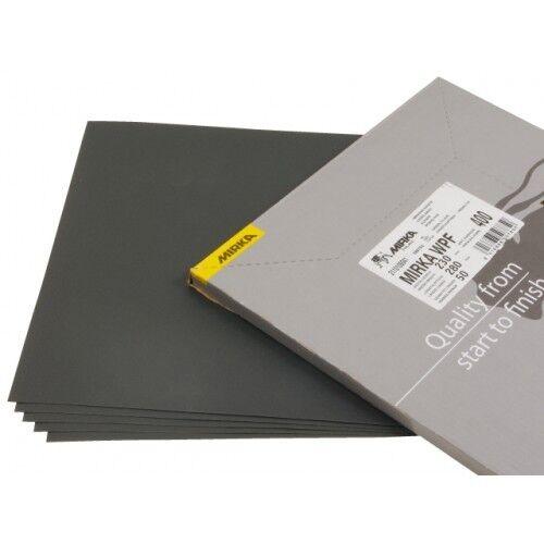 "Mirka 21-104-P1200 Waterproof Sandpaper Sheets 9"" x 11"" 1200 Grit, 50/Sleeve"