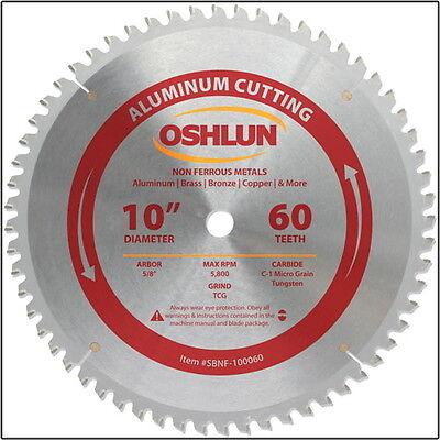 Oshlun Sbnf-100060 10 X 60 Tooth Aluminum Cutting Non-ferrous Saw Blade