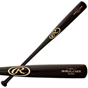 NEW Rawlings Professional Grade Ash Wood Baseball Bat Model PMXXX 34/32 BLACK