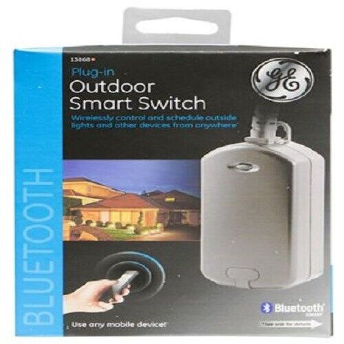 GE Bluetooth Plug-In Outdoor Smart Switch Black 13868