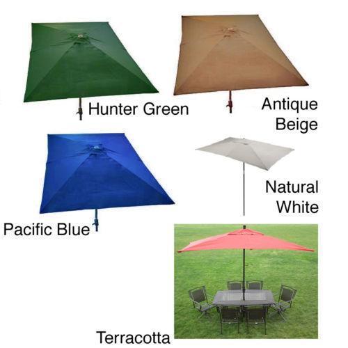 Rectangular Patio Umbrella Ebay