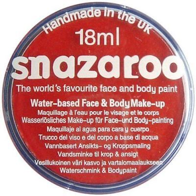 Red Snazaroo High Quality Non-Toxic Party Face Paint for Festivals & Fairs](Face Paintings For Halloween Costumes)