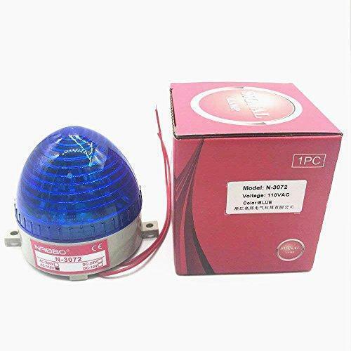 Nxtop Industrial AC 110V Blud LED Warning Light Blue Signal Tower Lamp Steady Fl