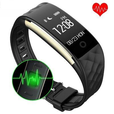 Smartband S2 Pulsuhr Fitnesstracker Wasserfest Fitnessarmband Sportuhr Bluetooth