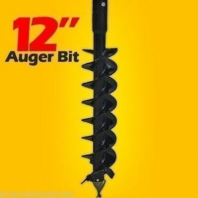 12x4 Auger Bit For Post Hole Auger Fits All 2.5 Round Drive Augersmade Usa