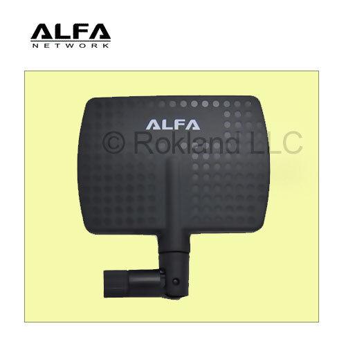 как выглядит USB Wi-Fi адаптер 2 Pack Alfa 2.4HGz 7dBi Booster RP-SMA Panel High-Gain Screw-On Swivel Antenna фото