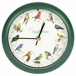 Audubon Singing Bird Wall Desk Clock Light sensor  High Quality And Durable
