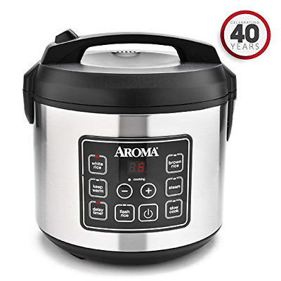 Aroma Housewares 20 Cup Cooked  Digital Rice Cooker, Slo...