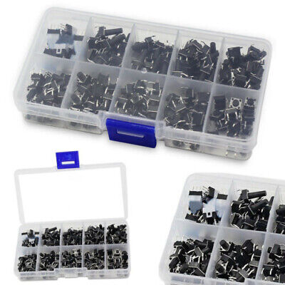 180pcs Tactile Push Button Switch Mini Momentary Tact Assortment 10 Values