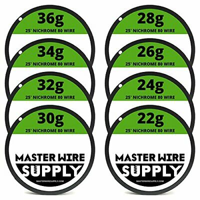Nichrome 80 Wire Sample Pack 25 Each 2224262830323436 Gauge