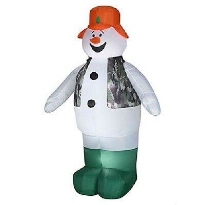 Airblown Inflatable Christmas Snowman Camo Hunter 6 Ft New