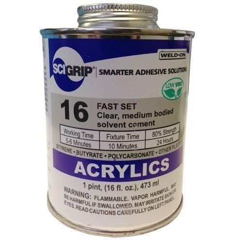 Weld-On 16 Acrylic Cement - Pint (16 Oz)