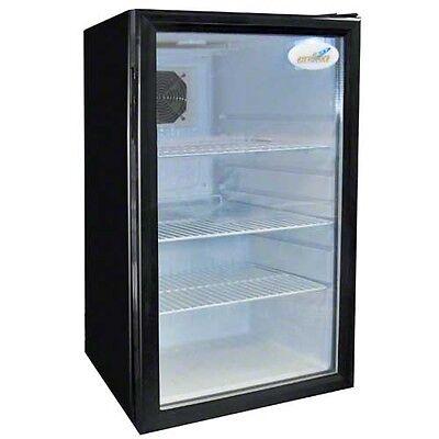 Commercial Counter-top Beverage Display Wglass Door Emm-4s