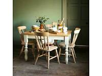 Dining table Winchester Painted 122cm (4ft) Table and 4 Chairs
