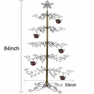 HOHIYA Ornament Display Tree Stand Metal Christmas Wire Hook Hanger Dog Cat G...