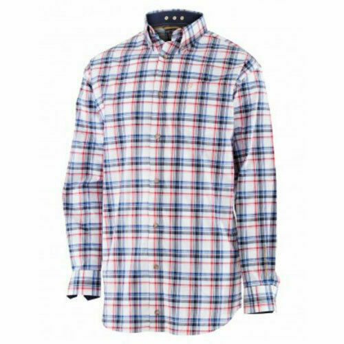Noble Outfitters Mens Generations Long Sleeve Shirt Small Red Blue Plaid