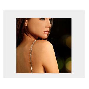 Pair Sparkly Diamante Detachable Shoulder Party PROM DRESS Gown BRA STRAPS