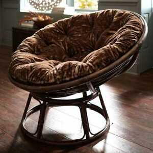 Pier 1 Papasan with Brown Cusion (like new condition)