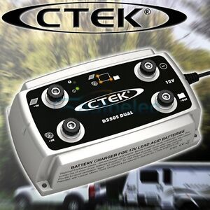 CTEK D250S DUAL DC TO DC SOLAR BATTERY CHARGER 12V 12 VOLT DCDC CAR AGM CARAVAN
