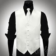White Suit Vest